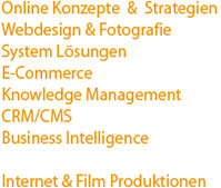 Online Konzepte  &  Strategien   Webdesign & Fotografie für Sylter Vermieter und Unternehmer, System Lösungen, E-Commerce, Knowledge Management, CRM/CMS, Business Intelligence, Internet & Film Produktionen